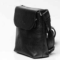 f5c052840998 Сумка кожаная мужская Vip Collection 1431A flat черная. В наличии