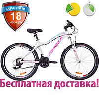 """Горный женский велосипед 26"""" Formula MYSTIQUE 2.0 2019 (бело-голубой с фиолетовым, рама 13,5"""")"""