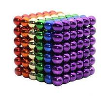 Неокуб - Магнитные металлические шарики разноцветные 216 штук 5мм, головоломка в боксе