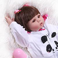 Кукла реборн 45 см полностью виниловая девочка Любава