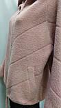 Кофта ангора на молнии с капюшоном, розового цвета, фото 4