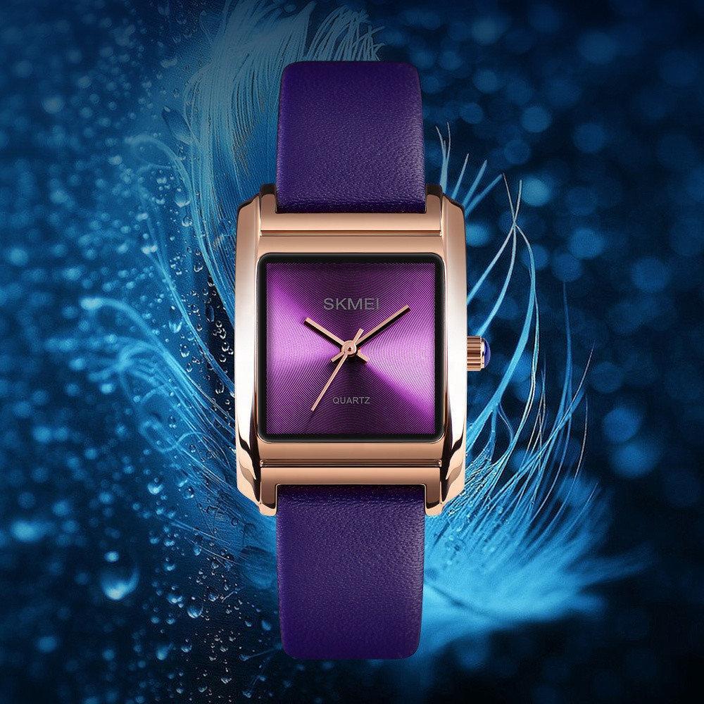 Оригинальные женские часы Skmei 1432 Violet / White / Pink
