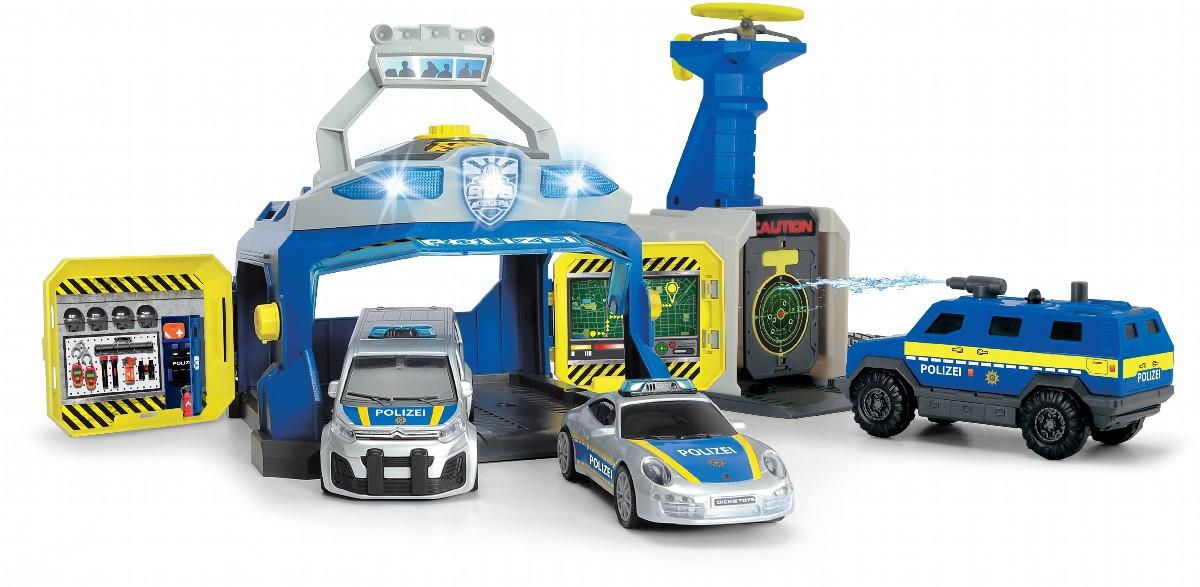 Уцінка набір Dickie Toys Станція SWAT з 3 машинами і пускачем дронов (3717004)