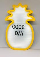 Ночник светильник Ананас Light up message board с посланием