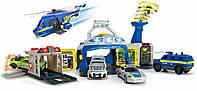 Игровой набор Dickie Toys Управление полиции с 4 машинами и вертолетом (3719011)