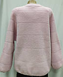 Кофта ангора на молнии розовая, осень/зима, фото 5