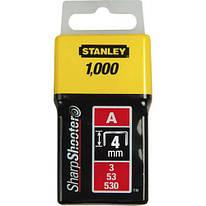 Скобы для степлера 4мм тип A STANLEY (1-TRA202T) 1000 шт.