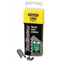Скобы для степлера 6 мм тип G STANLEY (1-TRA704T) 1000 шт.