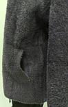 Кофта альпаки ангора на молнии, цвет графит, осень/зима, фото 4