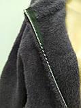 Кофта альпаки ангора на молнии, цвет графит, осень/зима, фото 7