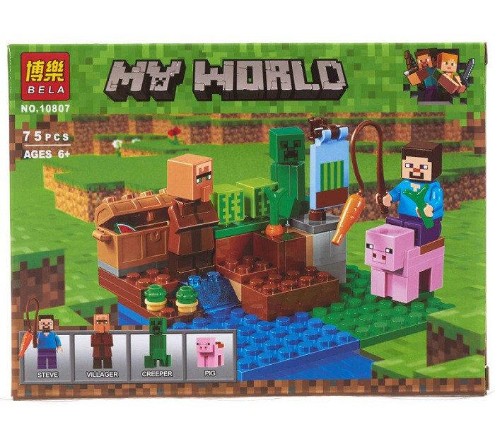 Конструктор Майнкрафт Bela 10807 Арбузная ферма (Аналог Lego Minecraft 21138) 75 дет