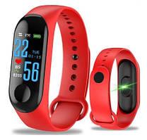 Фитнес-браслет Smart Bracelet M3 Plus (red) - Защита IP67