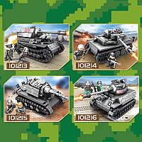 "Конструктор Sembo 101213-16 (Аналог Лего Lego) ""Военные танки"" 4 вида 233+ деталей, фото 1"