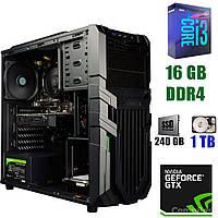 Raidmax Vortex V5 405WB Black / Intel Core i3-9100 (4 ядра по 3.6 - 4.2GHz) / 16 GB DDR4 / 240 GB SSD+1000 GB HDD / 500W / GeForce GTX 1660 6 GB