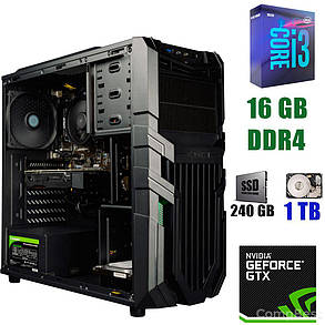 Raidmax Vortex V5 405WB Black / Intel Core i3-9100 (4 ядра по 3.6 - 4.2GHz) / 16 GB DDR4 / 240 GB SSD+1000 GB HDD / 500W / GeForce GTX 1660 6 GB, фото 2