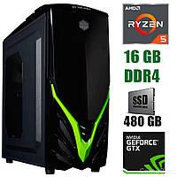 Raidmax EXO / AMD Ryzen 5 3600 (6(12)ядер по 3.6-4.2GHz) / 16 GB DDR4 / 480 GB SSD / БП 500W / GeForce GTX 1660 6 GB