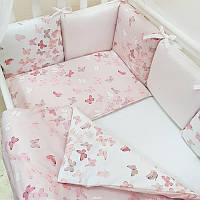 Дитяча постіль Маленька Соня Baby Design Premium Метелики