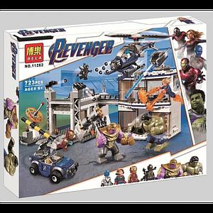 """Конструктор Bela 11262 Super Heroes """"Битва на базе Мстителей"""", 723 детали (аналог Lego 76131)"""