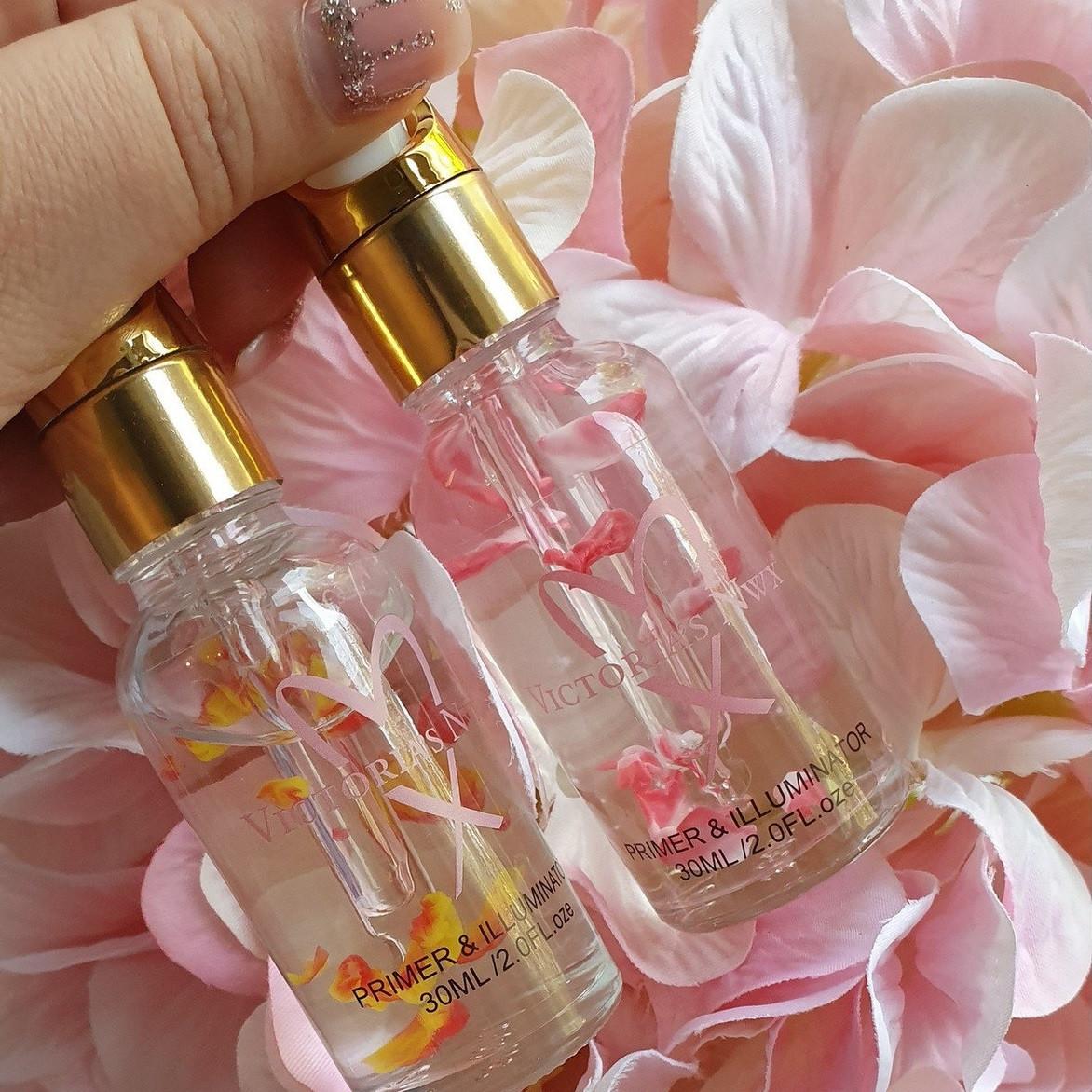 Праймер для лица с лепестками роз Victoria's NWX Pure Radiance Glowrized + Jojoba Oil 30 мл