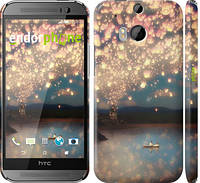"Чехол на HTC One M8 Фонарики ""2724c-30"""