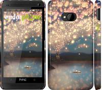"Чехол на HTC One M7 Фонарики ""2724c-36"""