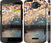 "Чехол на HTC One X Фонарики ""2724c-42"""