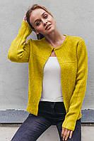 Стильный короткий кардиган P-M - желтый цвет, XL/XXL (есть размеры)