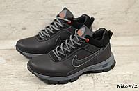 Мужские кожаные зимние ботинки Nike (Реплика) (Код: Nike 9/2  ) ►Размеры [40,41,42,43,44,45], фото 1