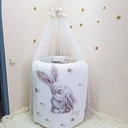 Дитяча постіль Маленька Соня овальне ліжечко 120х60 см