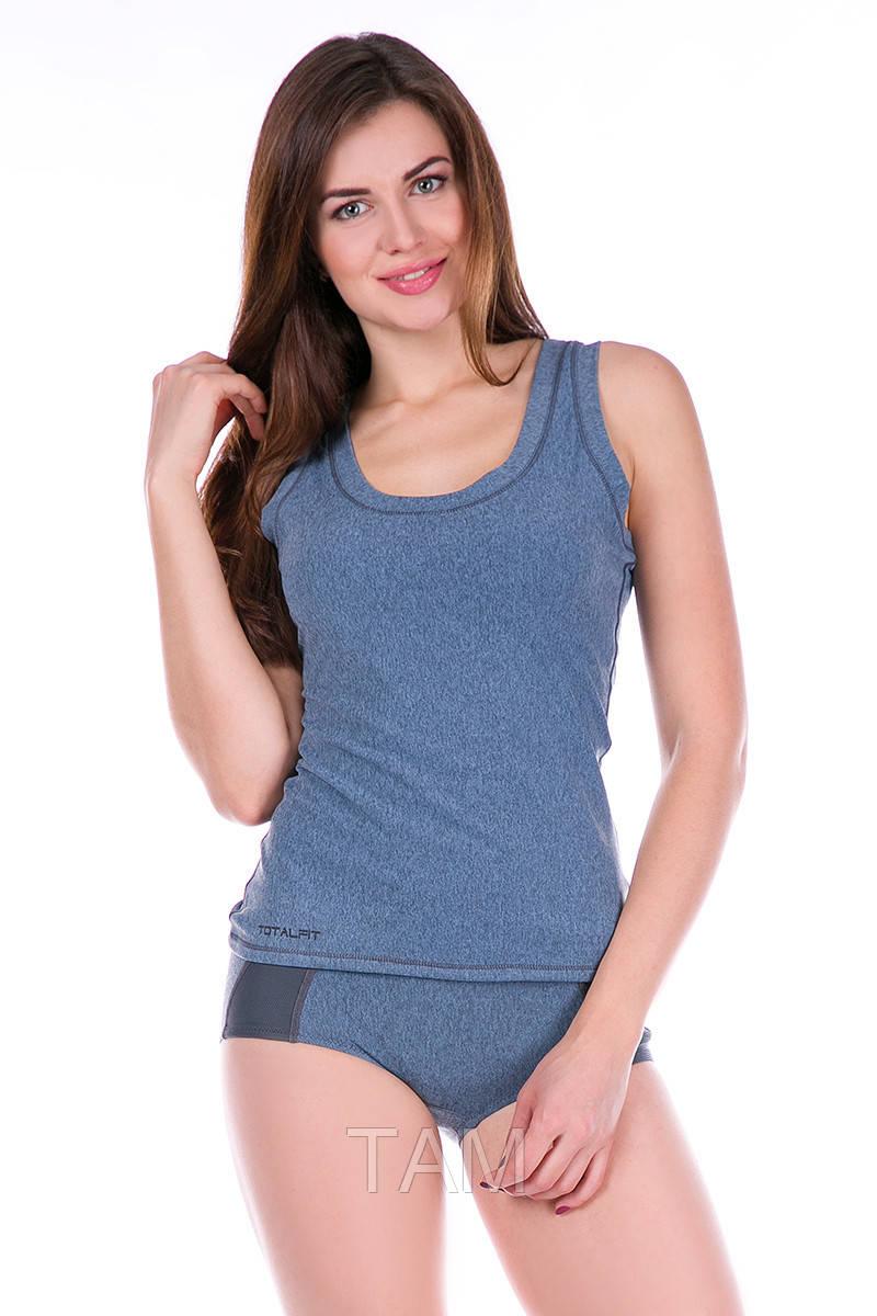 Термомайка женская Totalfit TN83 S серый, голубой