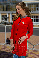 Красный женский тренч пиджак под Шанель 4 нормальных размера