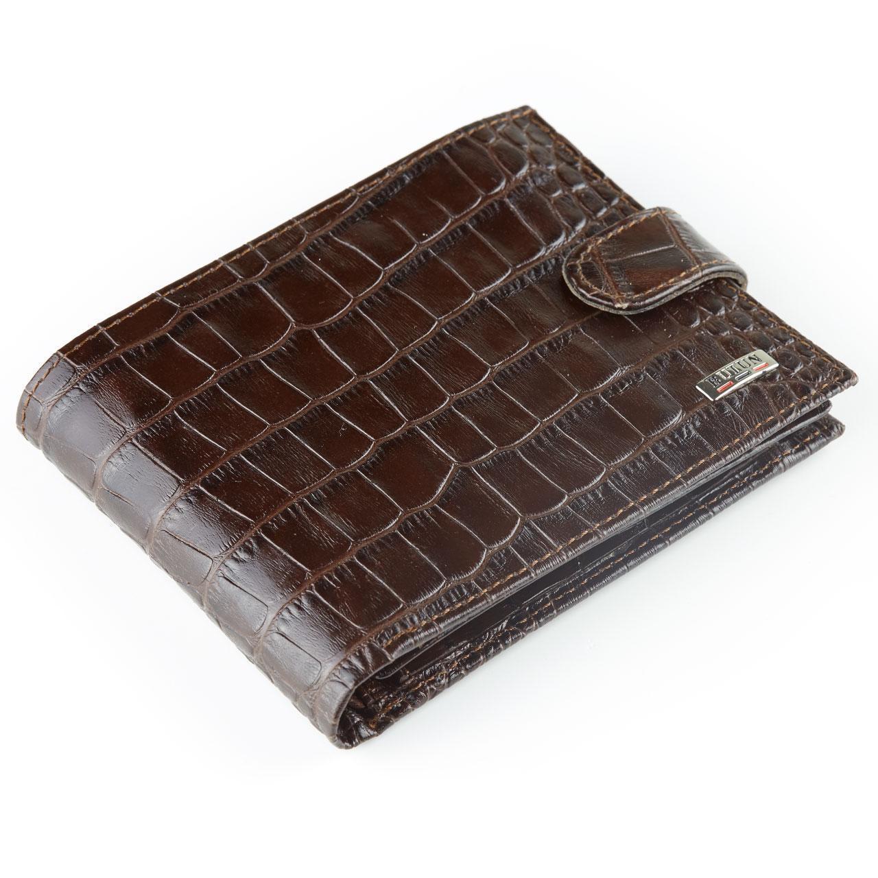 Мужское портмоне Butun 207-002-004 кожаное коричневое