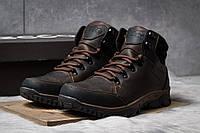 Мужские зимние ботинки на меху Ecco Techmotion, коричневые