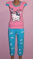Пижама женская футболка + бриджи (стрейч-кулир), фото 1