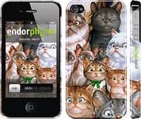 "Чехол на iPhone 4 коты ""1653c-15"""
