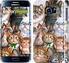"Чехол на Samsung Galaxy S6 G920 коты ""1653c-80"""