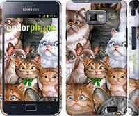 """Чехол на Samsung Galaxy S2 i9100 коты """"1653c-14"""""""