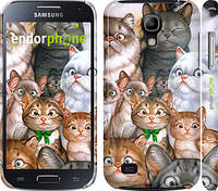 "Чехол на Samsung Galaxy S4 mini коты ""1653c-32"""