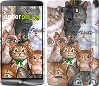 "Чехол на LG G3 dual D856 коты ""1653c-56"""