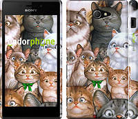 """Чехол на Sony Xperia M2 D2305 коты """"1653c-60"""""""