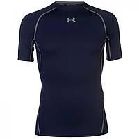 Термобелье Under Armour Heatgear Core T Shirt Navy - Оригинал