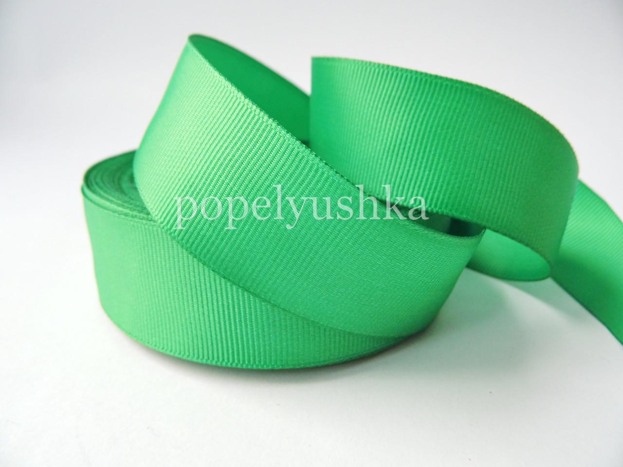 Лента репсовая 2,5 см зеленый