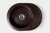 Гранитная кухонная мойка Valetti 600/470 цвет Шоколад