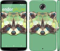 """Чехол на Motorola Nexus 6 Енот """"1217c-67"""""""