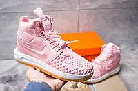 Женские зимние кроссовки термоносок Nike LF1 Duckboot, розовые