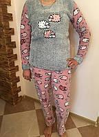 Пижама женская флисово-махровая