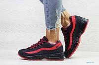 Женские зимние кроссовки Nike 95, черные с красным