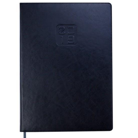 Ежедневник датированный 2020 А4 Buromax BRAVO Soft черный