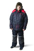 Зимний костюм для рыбалки и охоты SnowmaX синий /красные вставки Хит 2019