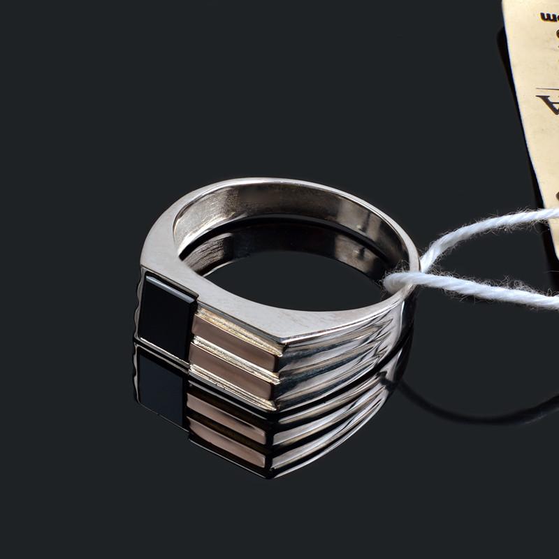 Мужская печатка - серебро и золото